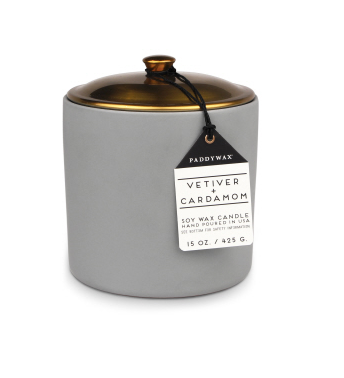 HYGGE 15 OZ GREY VETIVER + CARDAMOM CERAMIC - SISTER LB