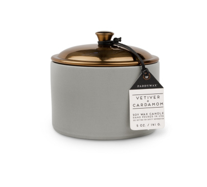 HYGGE 5 OZ GREY VETIVER + CARDAMOM CERAMIC - SISTER LB
