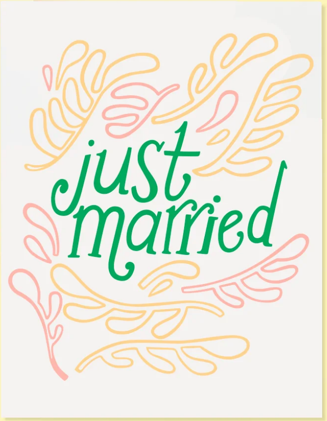 Just Married Card - SISTER LB