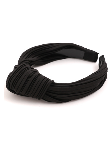 Black Ribbed Knot Headband - SISTER LB