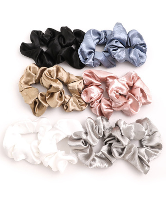Shiny Satin Scrunchie