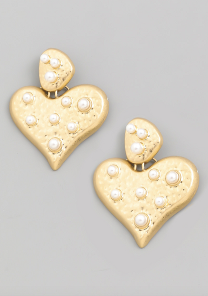 Gold Pearl Susan Earrings