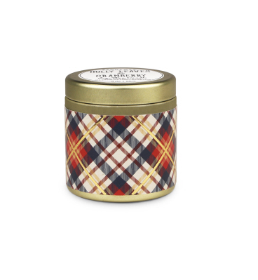 TARTAN 3 OZ TIN HOLLY LEAVES & CRANBERRY - SISTER LB
