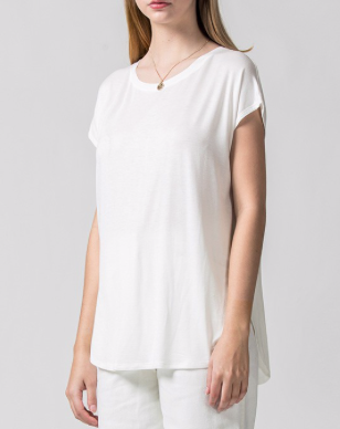 White Split Side Tee - SISTER LB