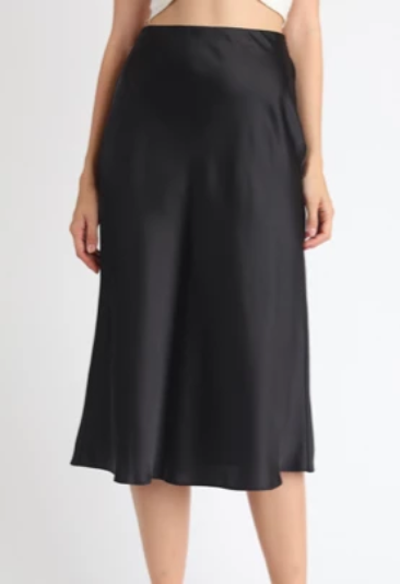 Kate Satin Midi Skirt - SISTER LB