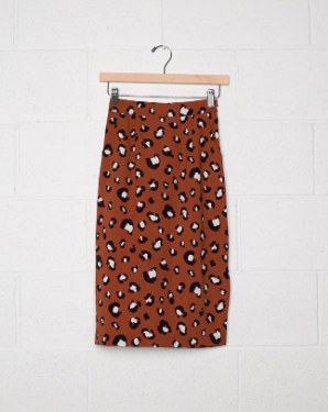 Monica Animal Midi Skirt