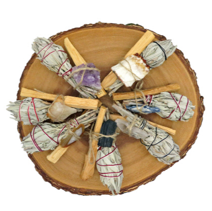 Bundles Sage Palo Santo with assorted rough stones - SISTER LB