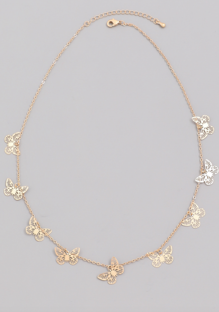 Dainty Butterfly Cutout Necklace