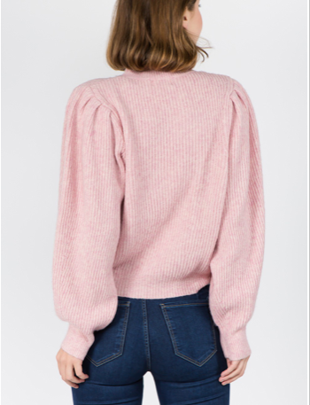Pink Puff Sleeve Sweater - SISTER LB