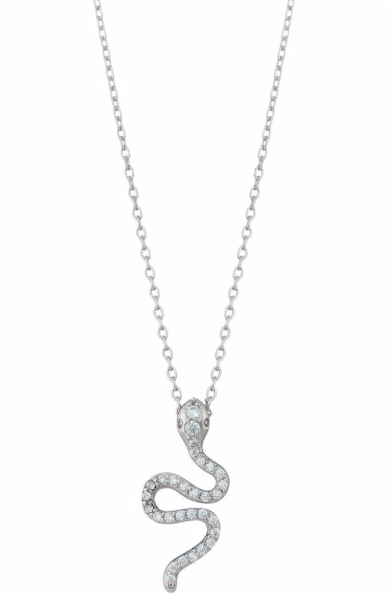Silver Sparkle Snake Necklace - SISTER LB