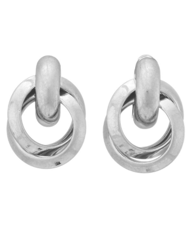 Silver Matte Diane Earrings - SISTER LB