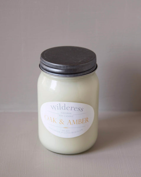 Wilderess - Oak and Amber 90 Hour Soy Candle - SISTER LB
