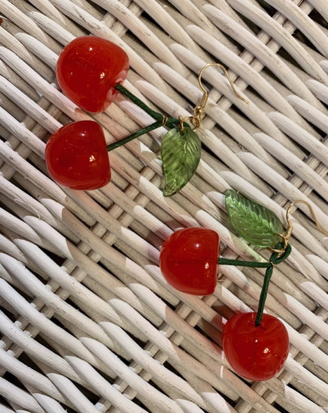 Acrylic Juicy Cherry Earrings