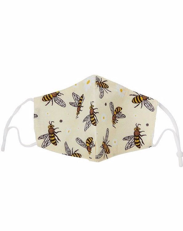 Daisy Bee Print Face Mask