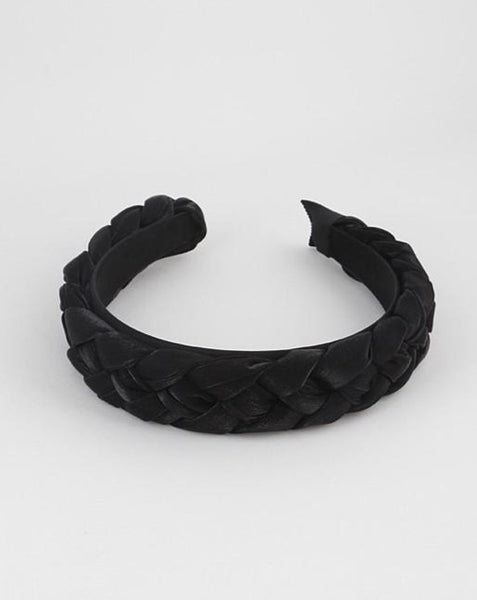 Black Organza Braided Headband - SISTER LB