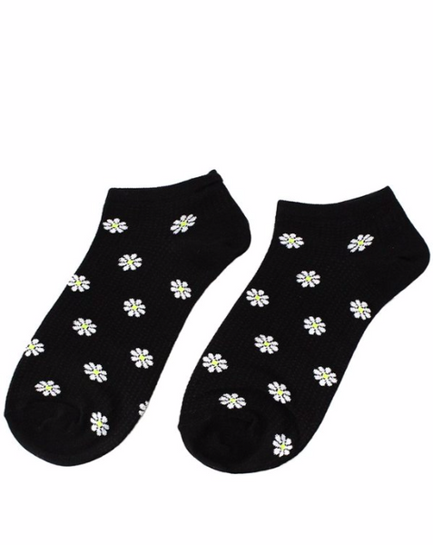 Black Daisy Socks