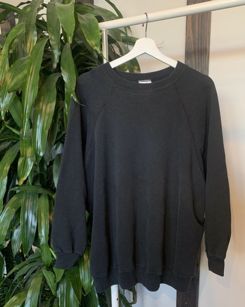 Vintage Washed Black Sweatshirt