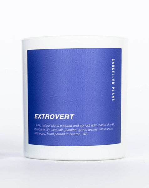Cancelled Plans - Extrovert Candle