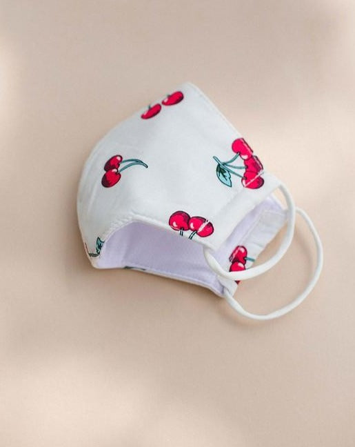 Cherry Print Face Mask