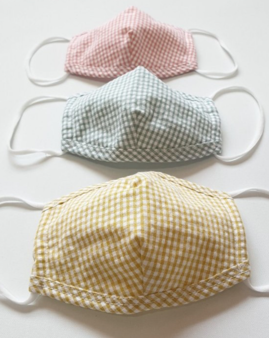 Children's Gingham Face Mask