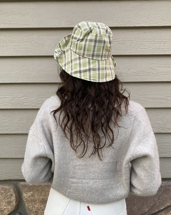 Sage Plaid Bucket Hat