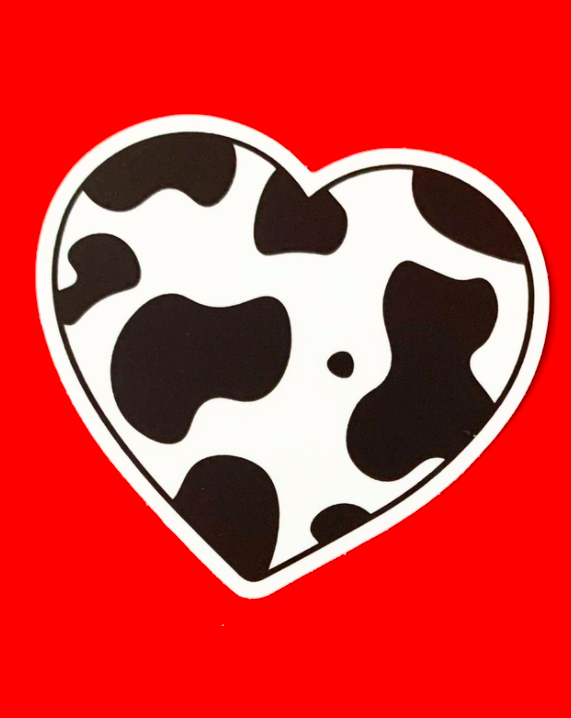 Cow Heart Sticker