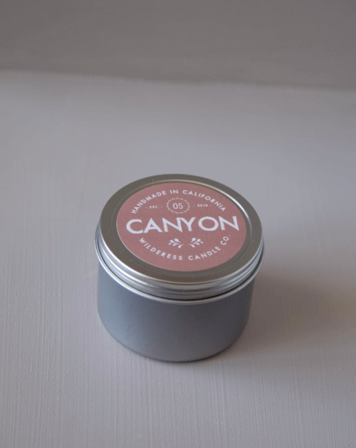 Wilderess - Canyon Travel Tin Soy Candle - SISTER LB