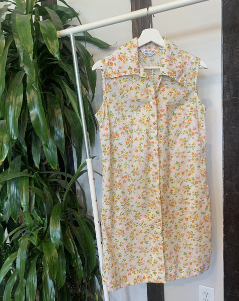 Vintage Daffodil Print Dress