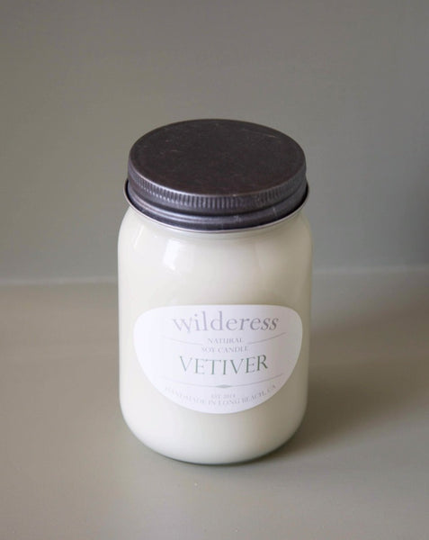 Wilderess - Vetiver 90 Hour Soy Candle - SISTER LB