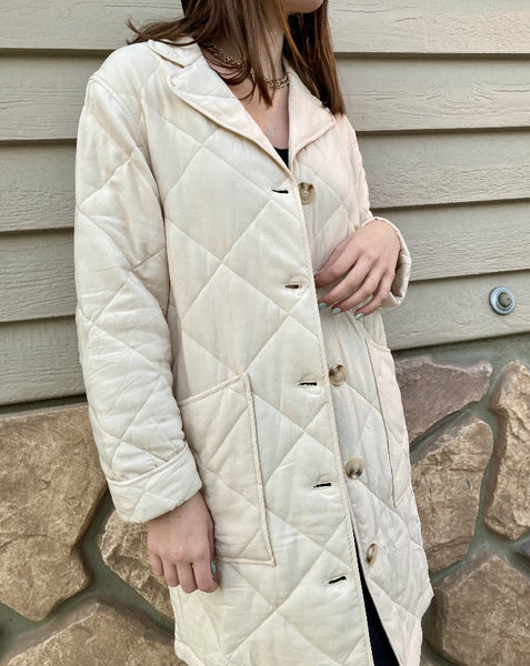 Ecru Light Quilted Coat