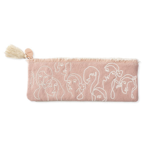 Embroidered Women Pencil Pouch