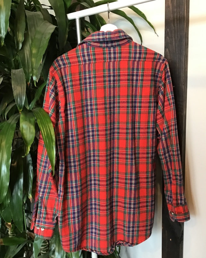 Red and Green Plaid Pendleton
