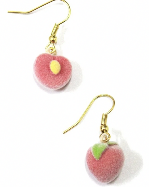 Fuzzy Peach Earrings