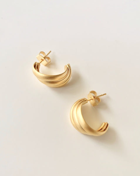 Alma Mini Twist Hoop Earrings