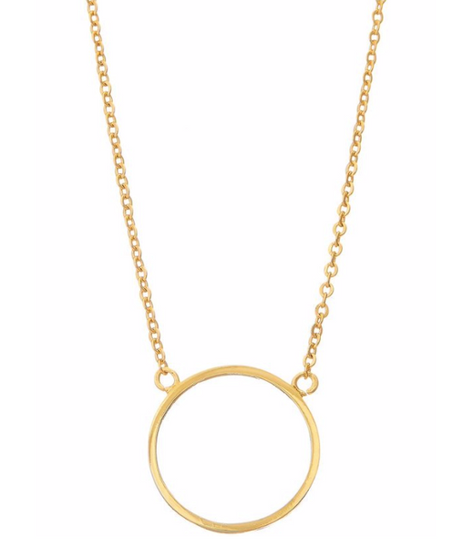 Dainty Circle Pendant Necklace