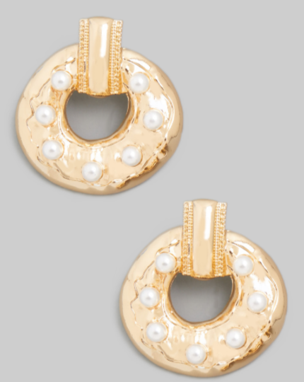 Jamie Pearl Statement Earrings