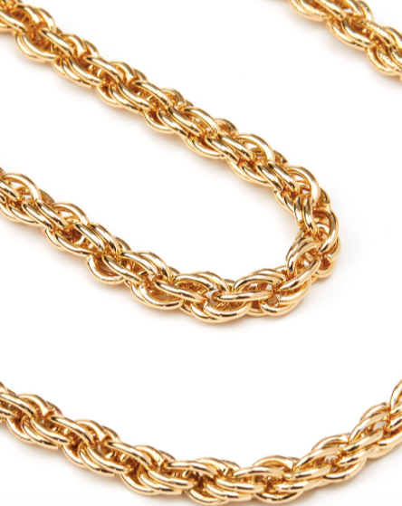 Gold Rope Chain Face Mask Chain