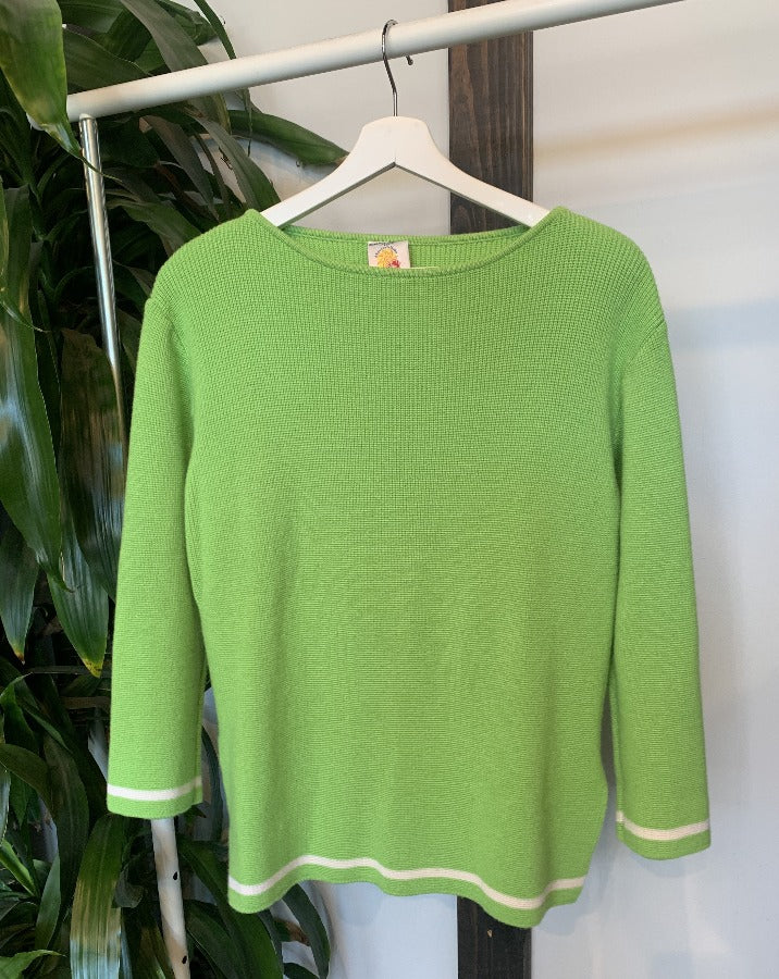 Vintage Green Pullover Sweater