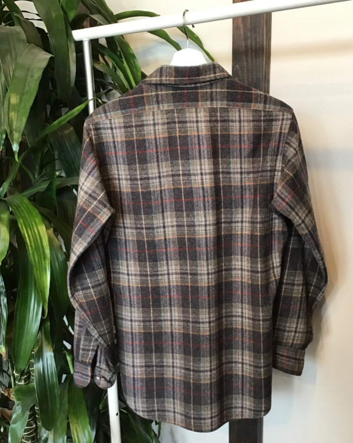 Grey and Beige Plaid Pendleton