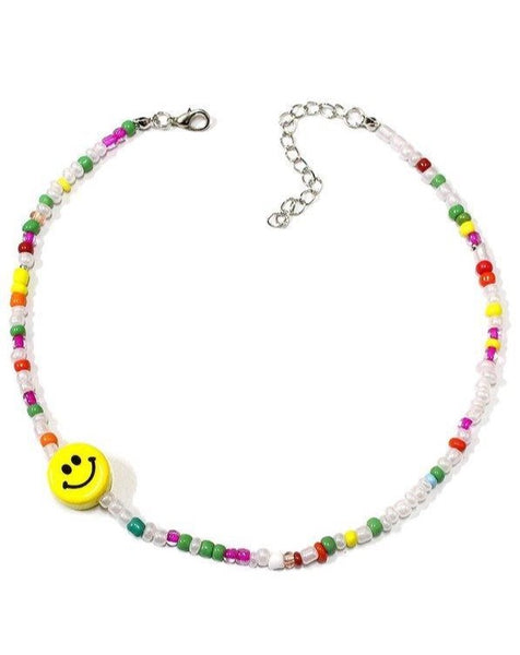Happy Beaded Choker Necklace