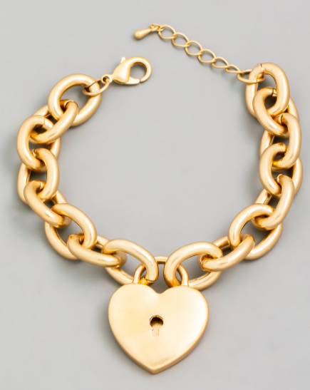 Heart Lock Chain Bracelet
