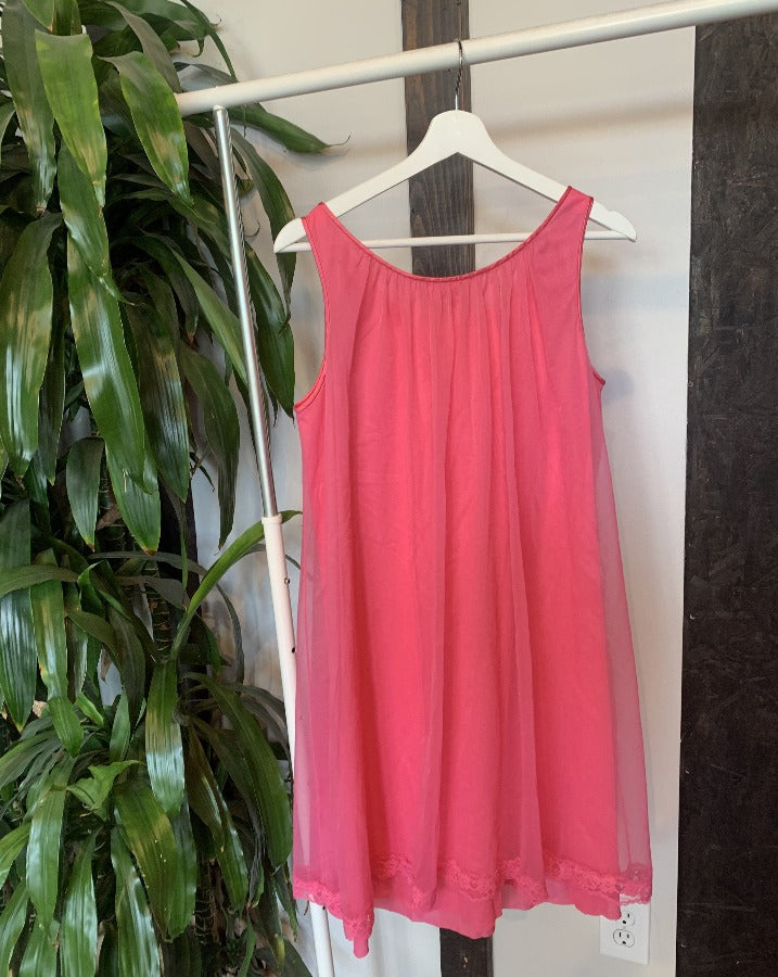 Vintage Hot Pink Nightie