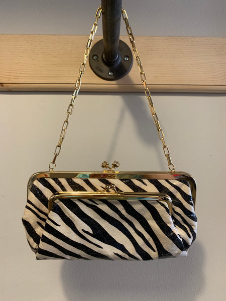 Vintage Zebra Wallet Bag