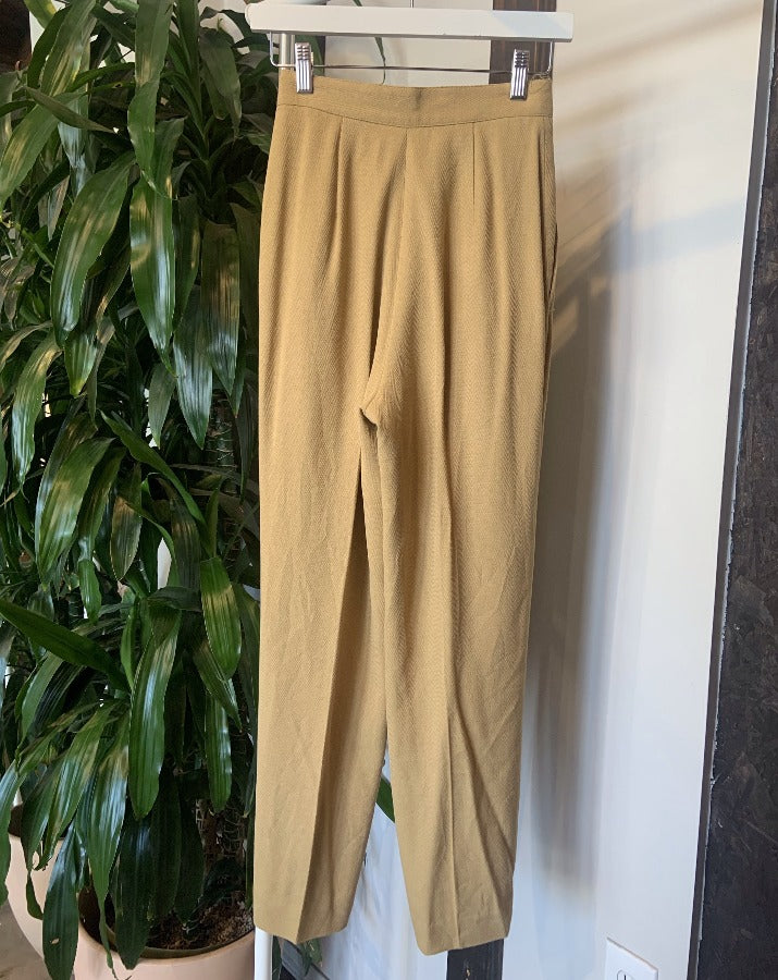 Vintage Tan Tapered Pants