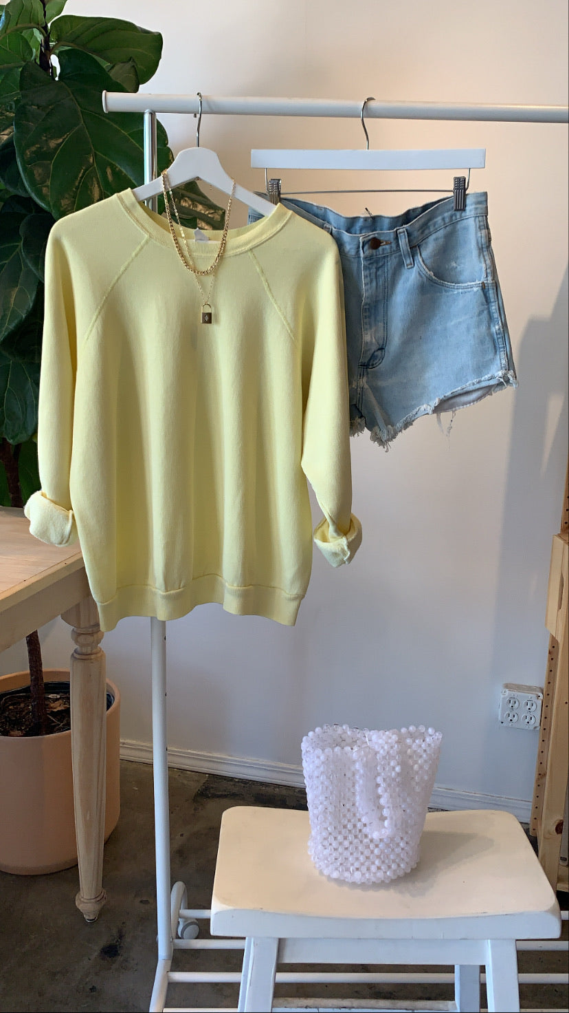 Vintage Soft Yellow Sweatshirt - SISTER LB