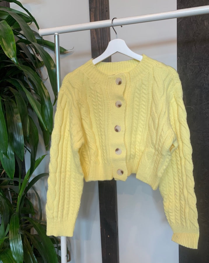 Yellow Astrid Cardigan