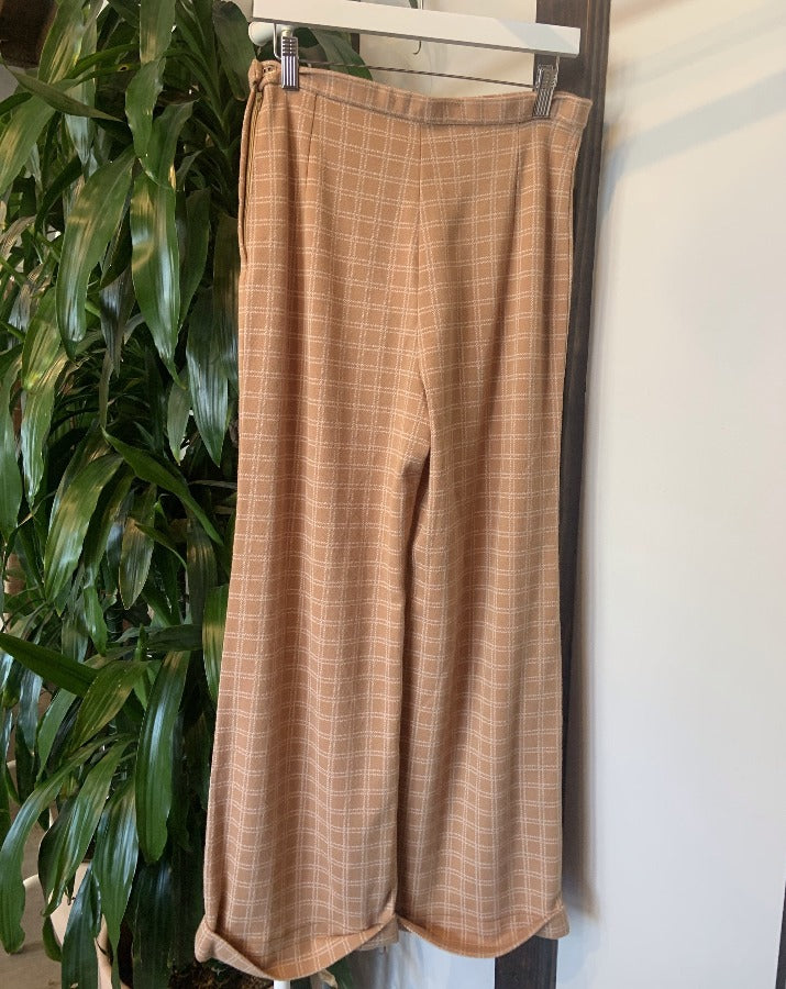 Vintage Tan Checker Pants