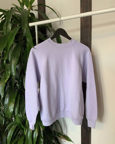 vintage light purple crew neck sweatshirt