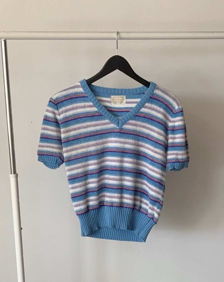 Vintage Terry Striped Top
