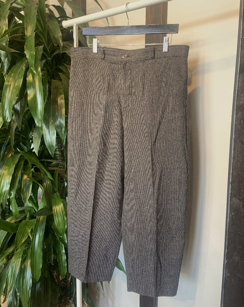 Vintage Tweed Cropped Pants